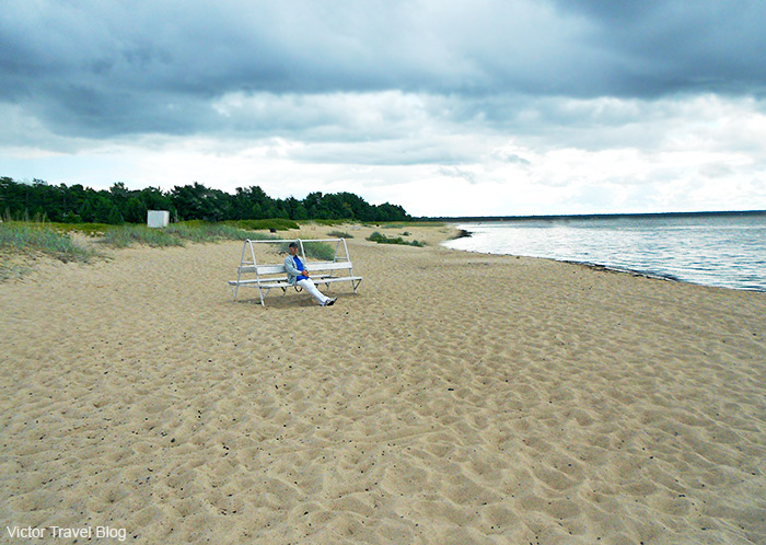 Laulasmaa in the Lahepere Bay is a beautiful sandy beach, just half an hour drive from Tallinn. Estonia.