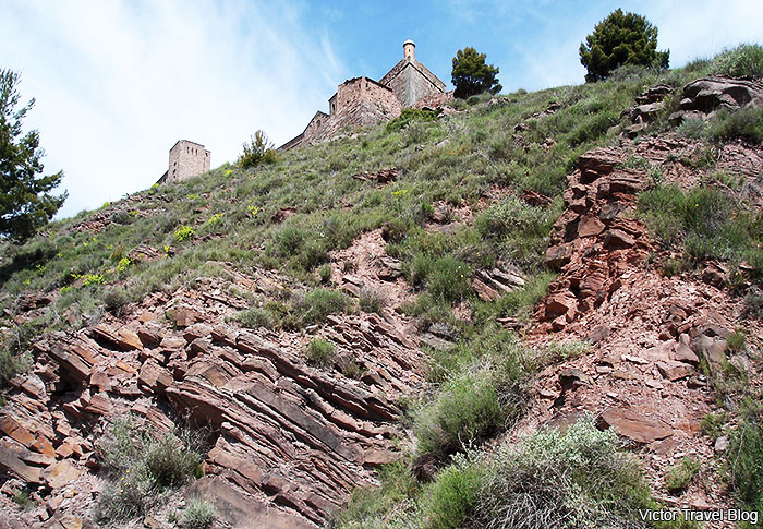 Fortifications of the Castle of Cardona, Spain.