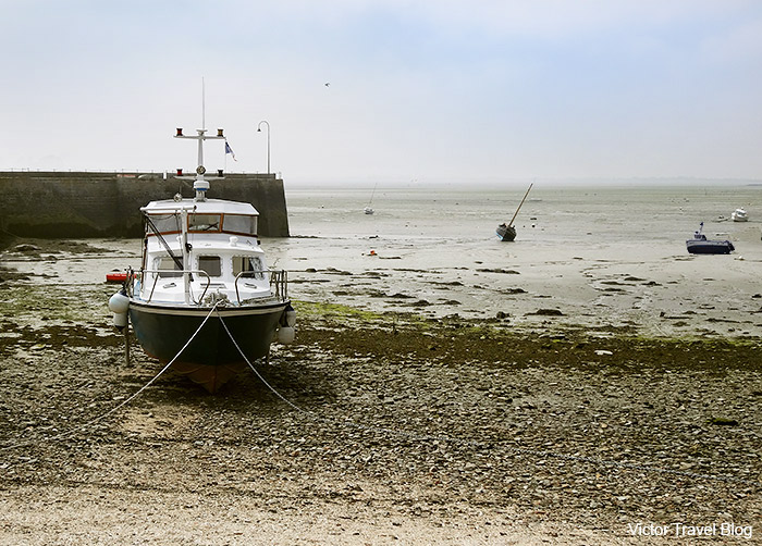 Ebb in the Oysters Bay. Cancale, Brittany, France.