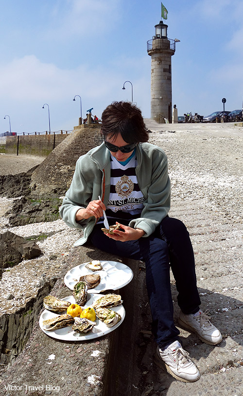 Oysters in Cancale, France.