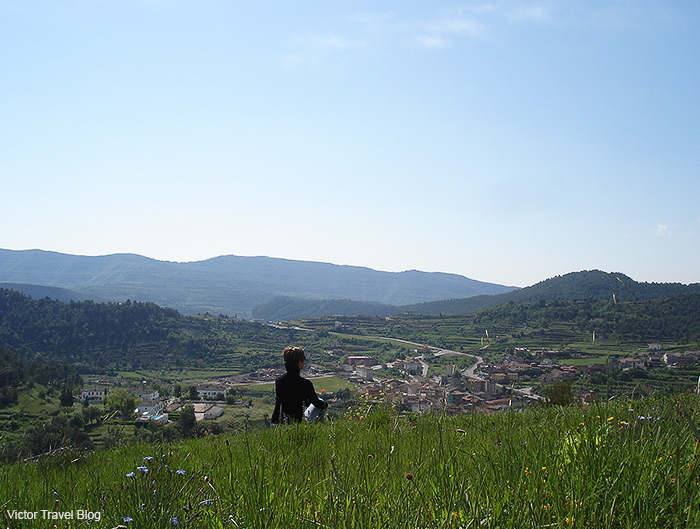 The view from the castle hill. Cardona, Spain.