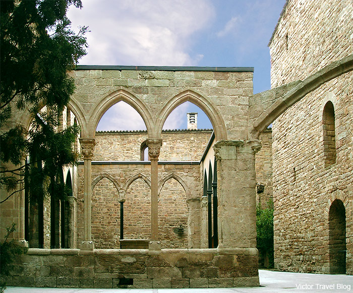 A patio in the Duques De Cardona Hotel, Catalonia, Spain.