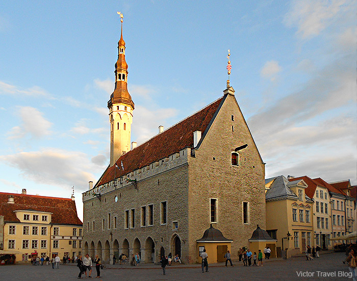 The Tallinn Town Hall, Tallinn's Old Town, Estonia.