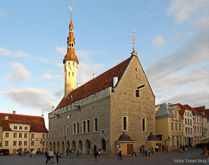 The Tallinn Town Hall, Tallinn's Old Town, Estonia.