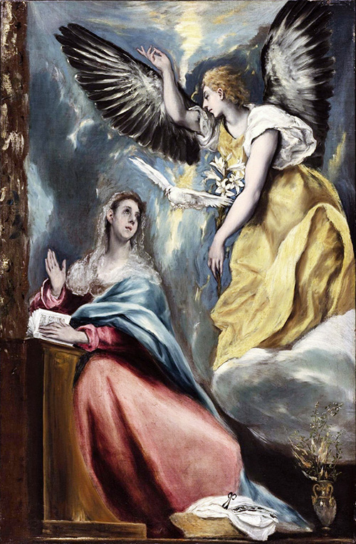 The Annunciation by El Greco. Museo del Prado. Madrid, Spain.