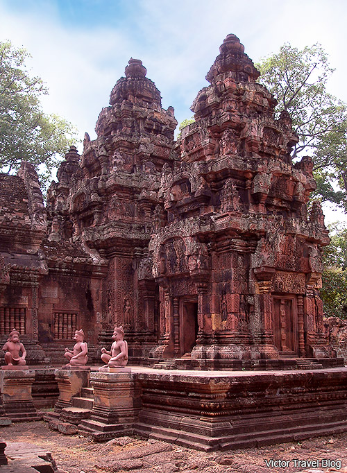 Banteay Srey is the woman temple in Angkor, Cambodia.
