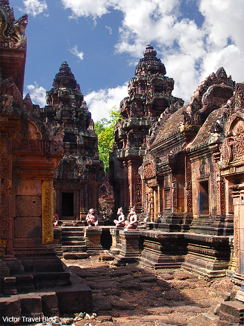 Banteay Srey is the female temple in Angkor, Cambodia.