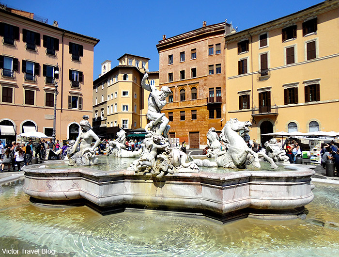 Fountain on the Piazza Navona. Rome, Italy.