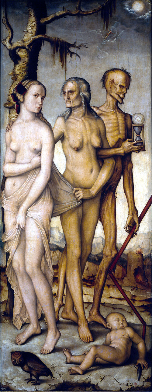 Three Ages of Man and Death by Hans Baldung Grien. Museo del Prado. Madrid, Spain.