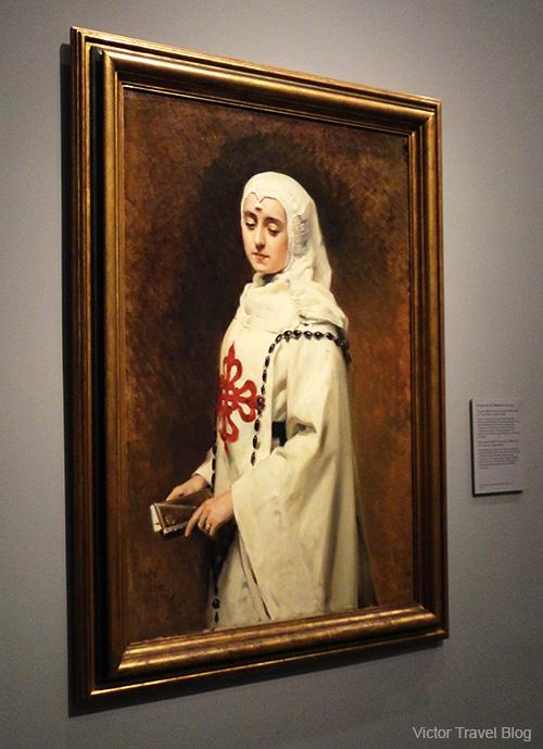 Nun in a white. Museo del Prado, Madrid, Spain.