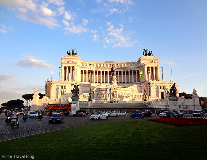 The Piazza Venezia. Rome, Italy.