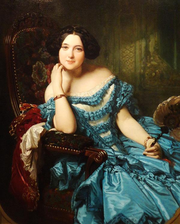 The portrait of Amalia de Llano y Dotres, condesa de Vilches, by Federico de Madrazo. Museo del Prado. Madrid, Spain.