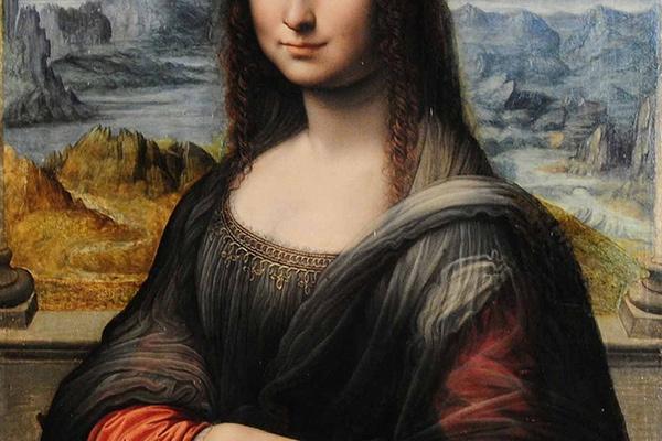 Portrait of Mona Lisa in Museo del Prado. Madrid, Spain.