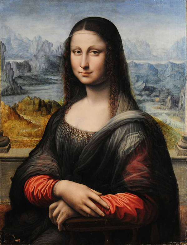A portrait of Mona Lisa in Museo del Prado. Madrid, Spain.