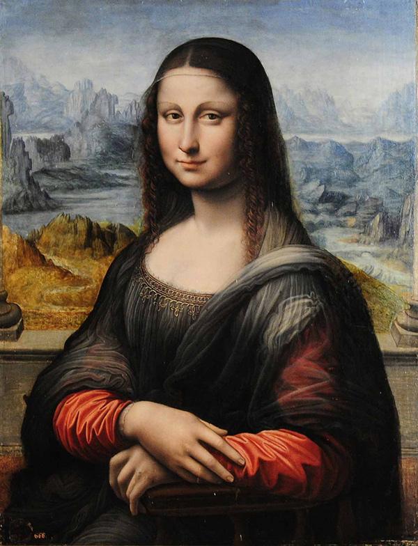 A portrait of Mona Lisa in Museo del Prado. Madrid, Spain.