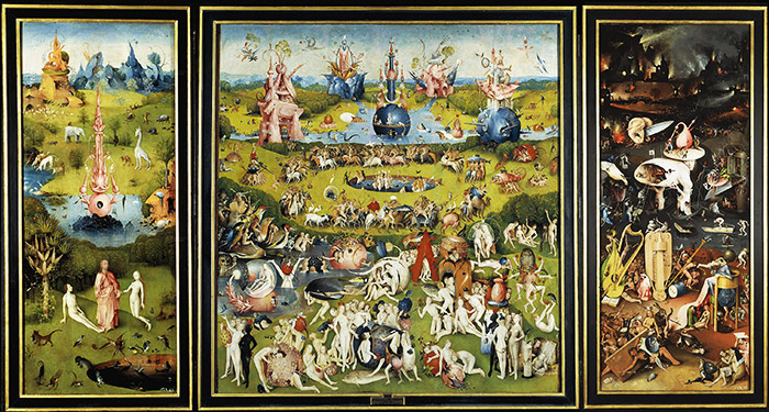 The Garden of Earthly Delights by Hieronymus Bosch. Museo del Prado. Madrid, Spain.