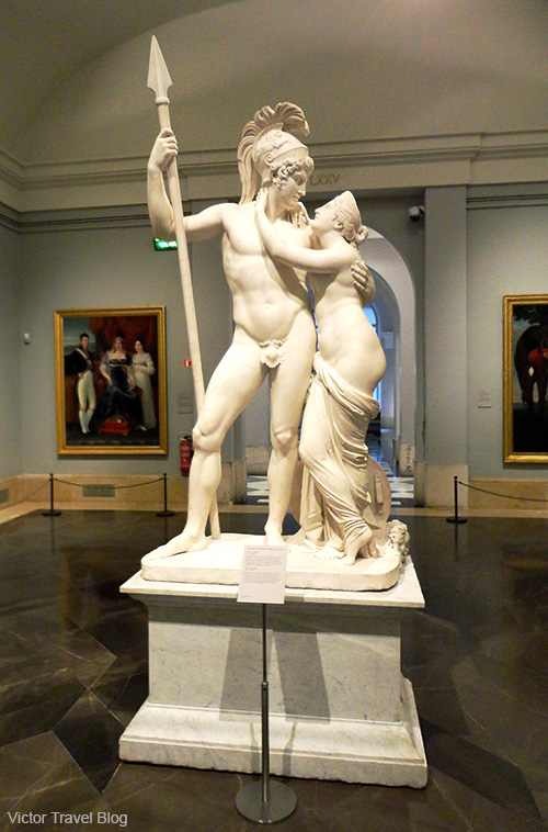 The Venus and Mars antique sculpture in Prado Museum. Madrid, Spain.