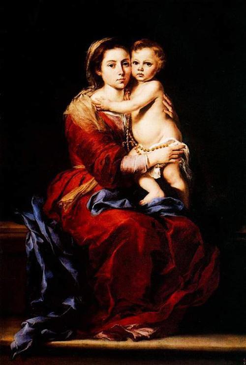 Virgin of the Rosary by Esteban Murillo. Museo del Prado. Madrid, Spain.