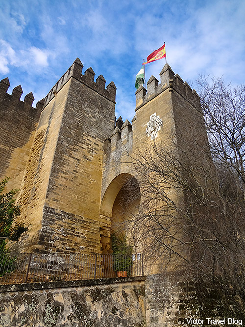 Entrance to the Castillo de Almodovar del Rio. Andalusia, Spain.