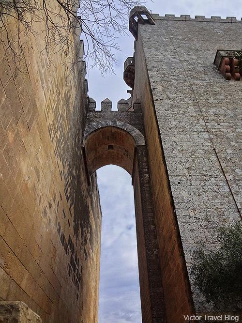 Towers of the Castillo de Almodovar del Rio. Andalusia, Spain.