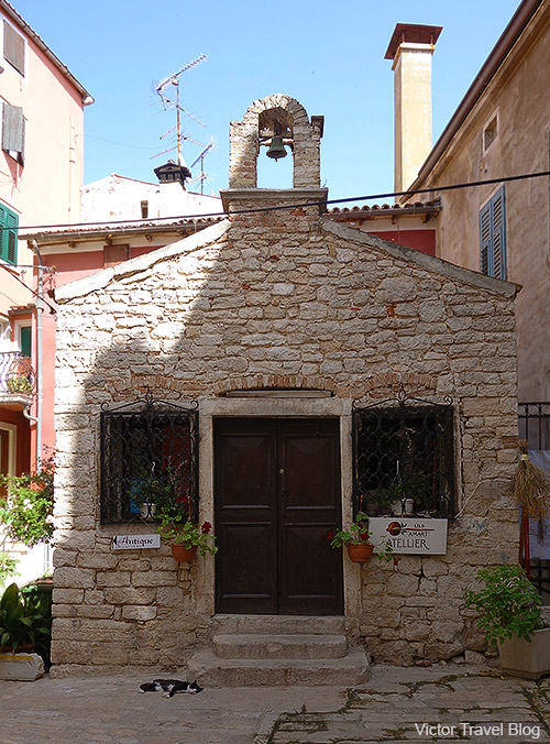 Small church. Rovinj, Istria, Croatia.