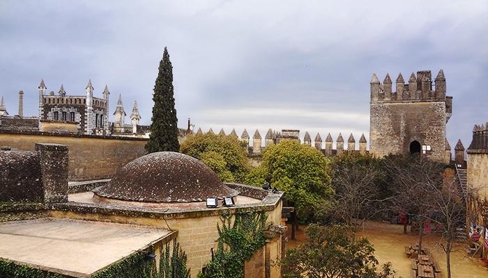 Inside of Castillo de Almodovar del Rio. Andalusia, Spain.