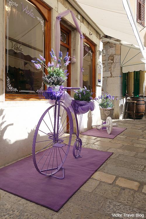 Souvenirs with lavender. Rovinj, Croatia.