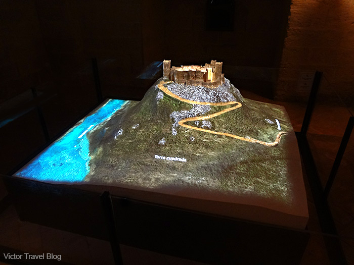 3D show about the history of the Almodovar castle. Andalusia, Spain.