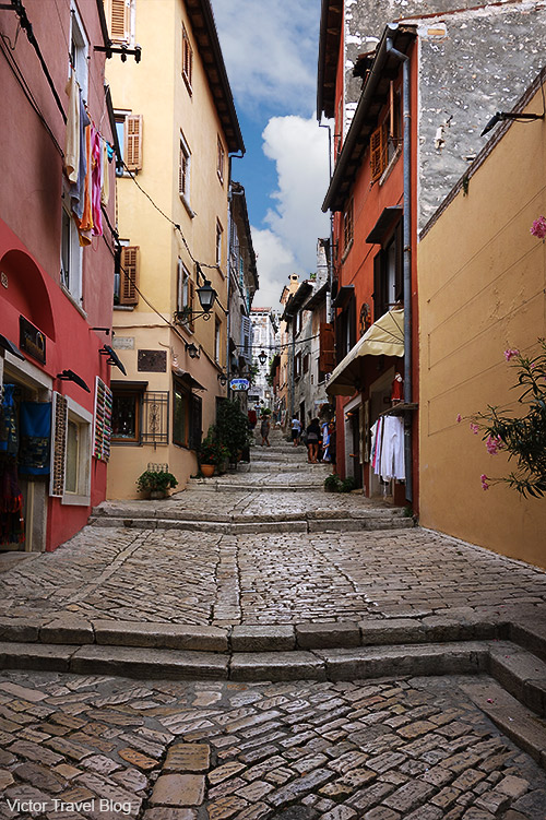 A street of the old Rovinj, Croatia.