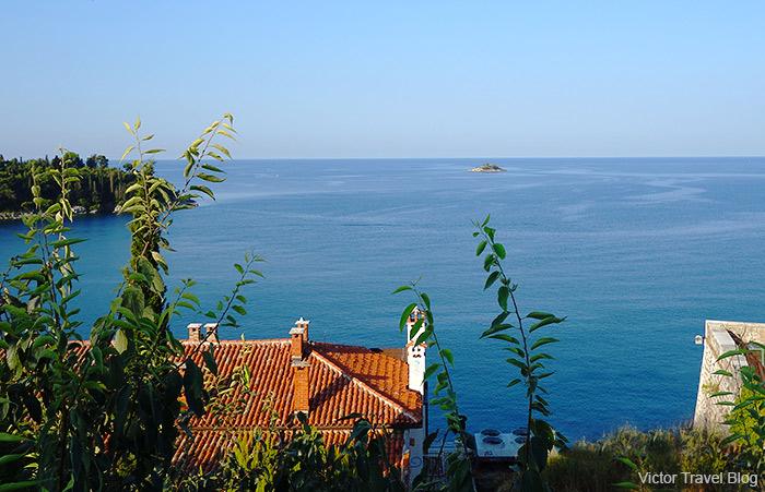 Sea view from the Church of St. Euphemia. Rovinj, Istria, Croatia.