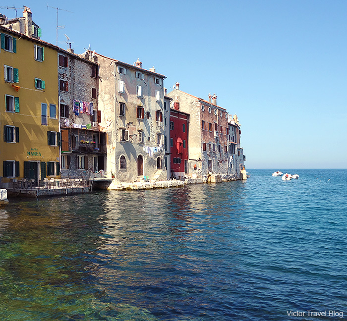 The Venetian side of the medieval Rovinj. Croatia.