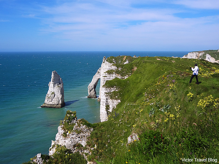 The Aiguille D'Etretat. Normandie, France.