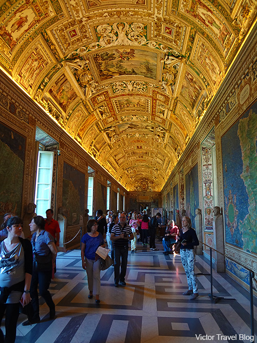The Gallery of Maps of the Vatican Museums. Rome, Italy.