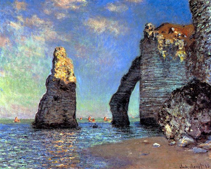 The Cliffs at Etretat, oil on canvas, Claude Monet, 1885