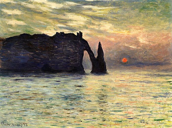 Sunset by Claude Monet, 1883