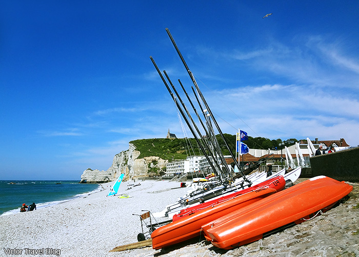The Alabaster Coast or Cote d'Albatre. Normandie, France.