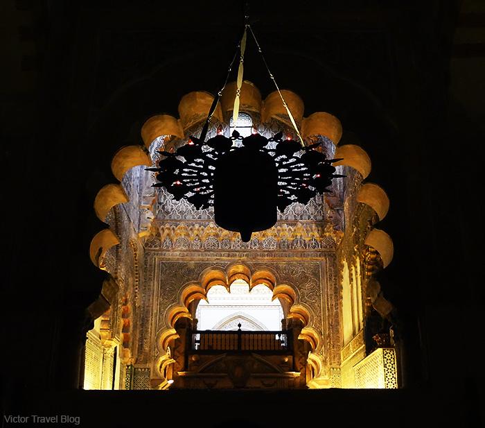Inside of Mezquita de Cordoba, Spain.