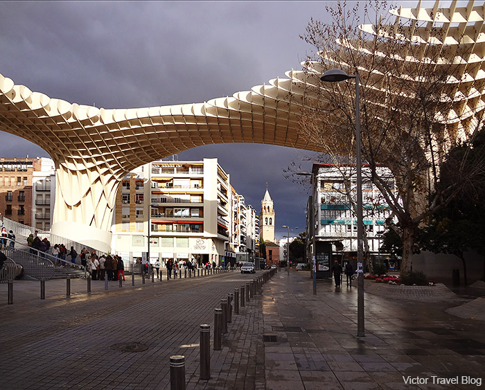 Seville's Metropol Parasol. Spain.