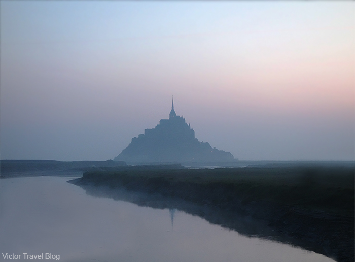 Morning. Mont St. Michel, Normandy, France.