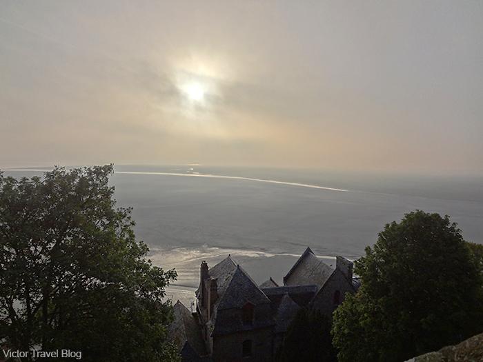 Misticism around Mont St. Michel. Normandy, France.