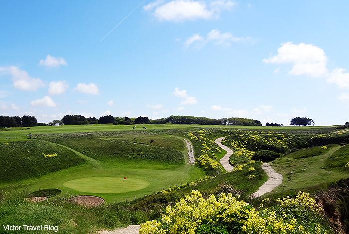 Golf course. Etretat, Normandie, France.