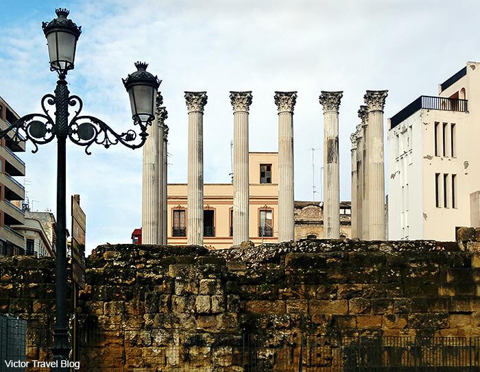 Roman ruins in Cordoba. Spain.