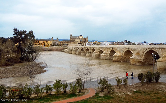 Cordoba's Roman bridge. Cordoba, Andalusia, Spain.