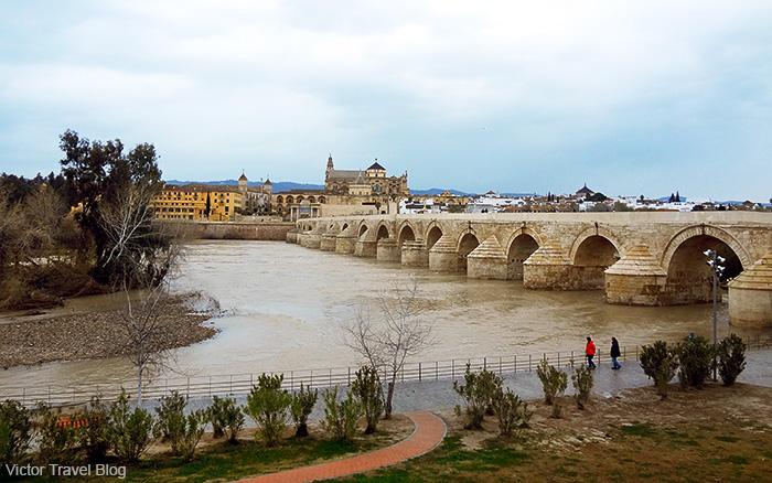 Cordoba's Roman bridge. Cordoba, Andalusia, Spain.