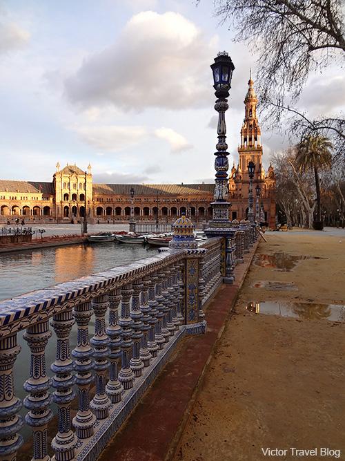 Spain Square - Plaza de Espana. Seville, Spain.