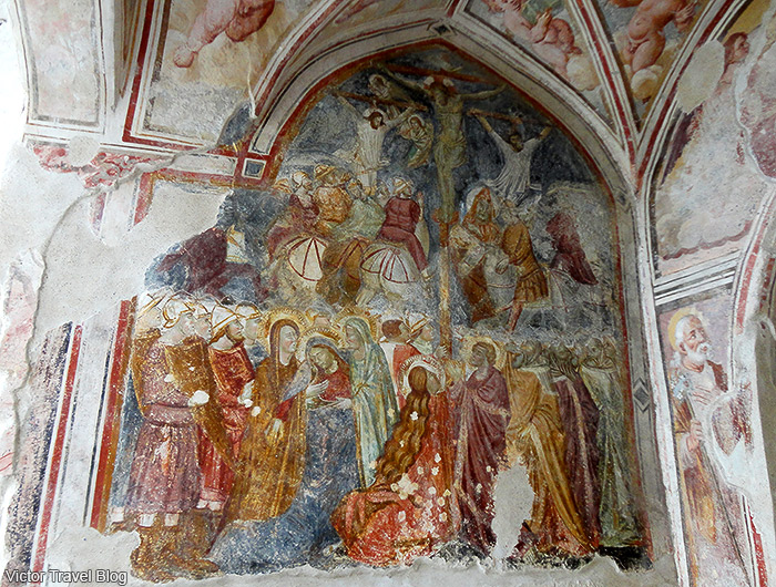 The frescoes in the Amalfi Cathedral. Amalfi, Italy.