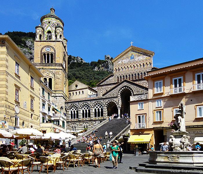 The Amalfi Cathedral. Amalfi, Italy.