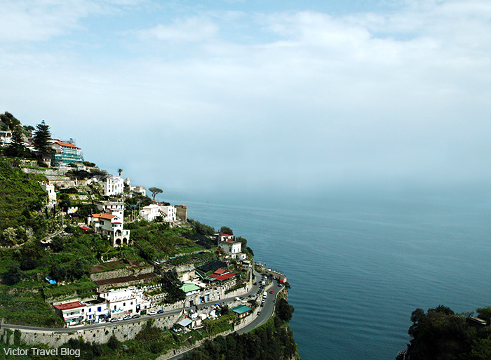 The road of the Amalfi Coast. Italy.