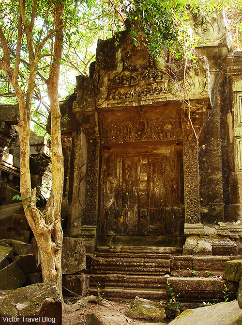 Ancient door. Beng Mealea temple. Siem Reap Province. Cambodia.
