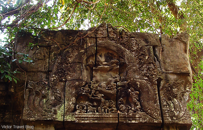 Inside of the Beng Mealea temple. Cambodia.